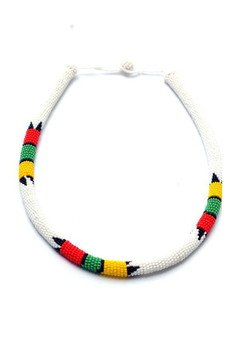 Meraki - MERAKI White Zulu South African Necklace