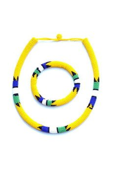 - MERAKI Yellow Zulu South African Bracelet