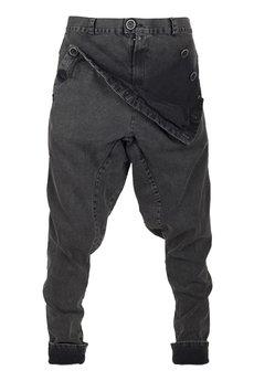 MADOX design - spodnie madoxy jeansowe marmurki
