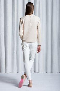 Kremowa bluza t