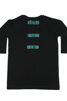 SUZI - czarna prosta sukienka z kokardkami