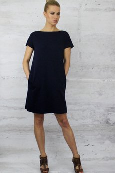 YES TO DRESS by Bożena Karska - CLOUD amarant jersey dress