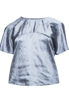 jolie su - Puzzle Short Sleeve Blouse