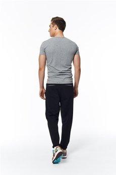 MADOX design - spodnie madoxy dresowe czarno - szare