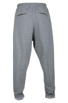 - spodnie madoxy dresowe szaro - brązowe