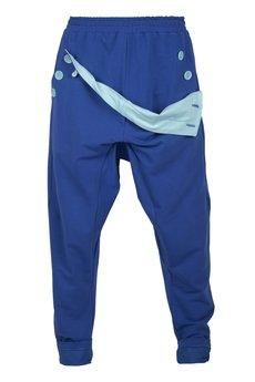 MADOX design - spodnie madoxy dresowe niebisko - błękitne