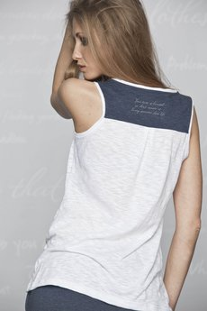 - Koszulka HAVE DREAMS biała-granat (101BJ)