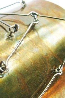 Projekt Mosko - Metalowa bransoletka z mosiądzu i stali