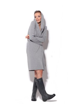 FENOMENALE - otulająca sukienka kopertowa z dresowej dzianiny