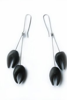 Black teeth earrings 2