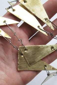 Gold triangles necklace 4