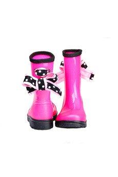 RUBBERIES - Pink Dots - kaloszki dla dzieci
