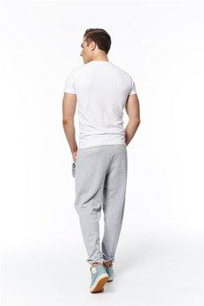 - spodnie madoxy dresowe szaro - cytrynowe