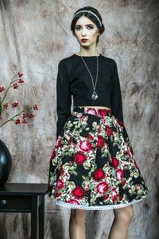 Kasia Miciak design - Kwiecista spódnica z kontrafałdami