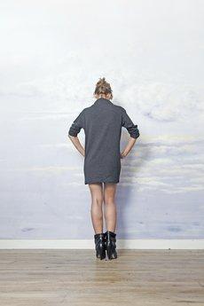 - sukienka BŁYSKAWICA grafit