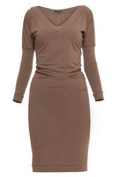 - Sukienka z dekoltem midi