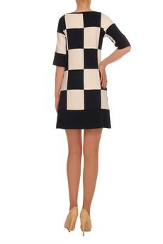 YULIYA BABICH - Sukienka szachownica