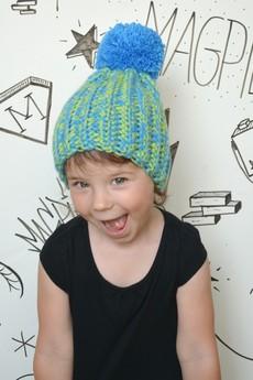 MAGPIE - Blue&Green Pompon
