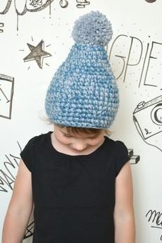 MAGPIE - Blue&Grey Pompon