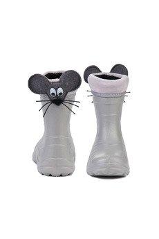 RUBBERIES - Light Mouse - kaloszki dla dzieci