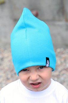 Beanie light blue kasper low