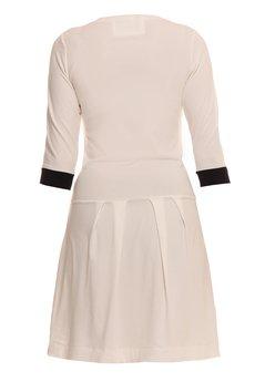 - Sukienka z zakładkami dwukolorowa