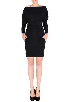 - Sukienka minimalistyczna z kieszeniami