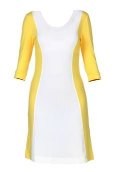 - Sukienka dopasowana dwukolorowa