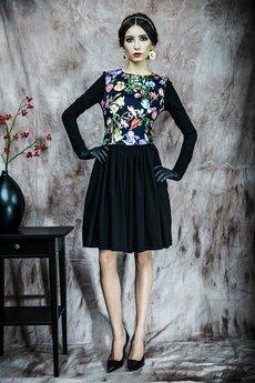 Kasia Miciak design - Rozkloszowana sukienka w kwiaty