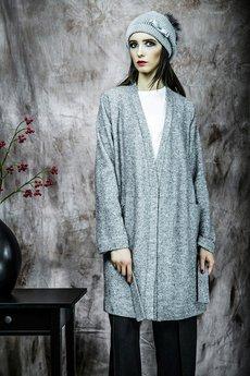 - Długi sweter/płaszczyk z kieszeniami