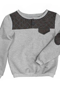 - teal quilted sweatshirt
