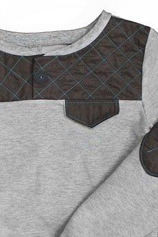 midfashion - teal quilted sweatshirt