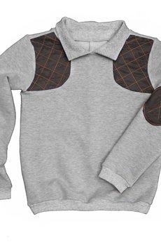 - orange quilted sweatshirt