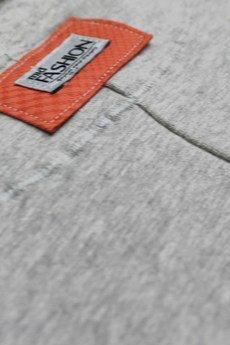 midfashion - orange quilted sweatshirt