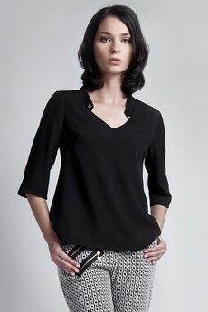 Lanti - Lekka bluzka BLU 116 - czarna