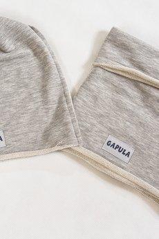 Gapula - Czapa surowa szara pętelka
