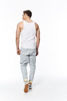 MADOX design - spodnie madoxy szarocytrynowe