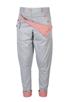MADOX design - spodnie madoxy szarołososiowe