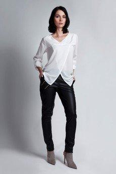 - Kopertowa bluzka BLU 118 - biała