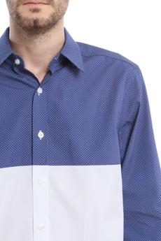 BLUE EYE POP - Granatowo-biała koszula B/E/P_K47