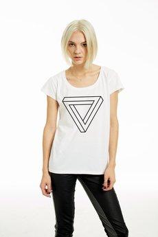 NAOKO - T-SHIRT Triangle white