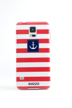 ENZZO - Etui do Samsung Galaxy S5 Captain+folia+chusta z mikrofibry