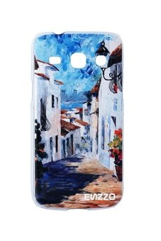 "- Etui do Samsung Core Plus""Greek alley""+chusta z mikrofibry"