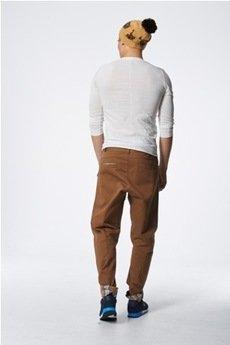 - spodnie madoxy brązowe z kratą morską