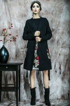 Kasia Miciak design - Długi sweter/płaszczyk z kieszeniami
