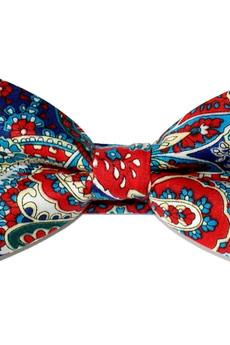 bowstyle - Mucha gotowa bowstyle Niebiesko-czerwony wzór paisley