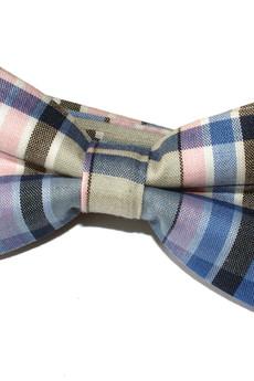 bowstyle - Mucha gotowa Niebieska krata