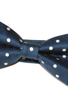bowstyle - Mucha gotowa Niebieska w kropki
