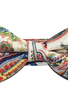 bowstyle - Mucha gotowa Czerwony wzór paisley
