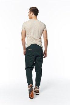 - spodnie madoxy zielone z podszewką w kratę morską